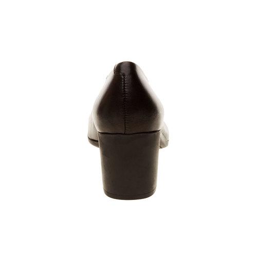 Décolleté di pelle flexible, nero, 624-6706 - 17
