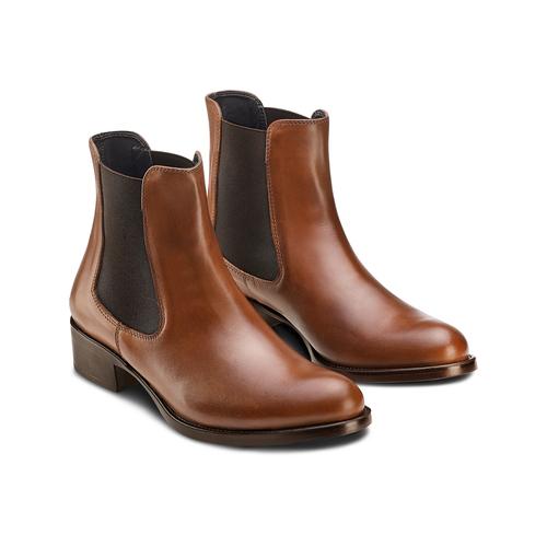 Scarpe di pelle in stile Chelsea bata, marrone, 594-4448 - 16