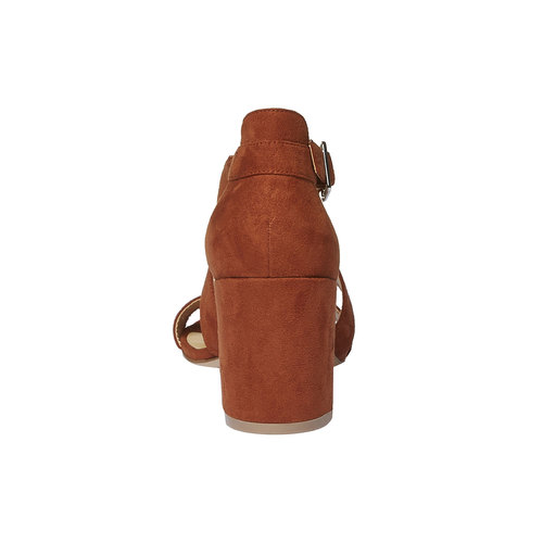 Sandali dal tacco ampio bata, marrone, 769-3317 - 17