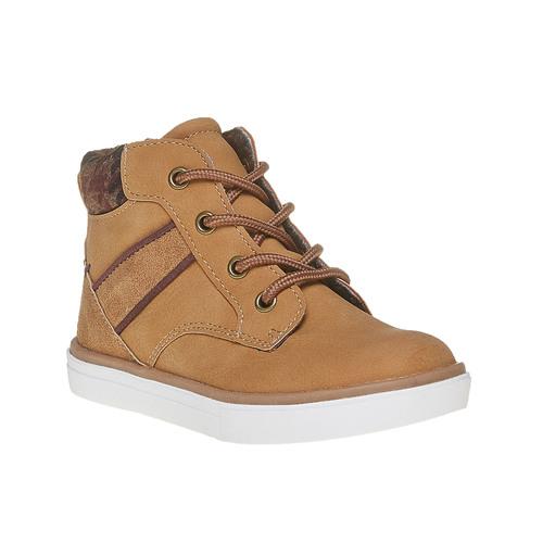 Sneakers da bambino alla caviglia mini-b, giallo, 211-8169 - 13