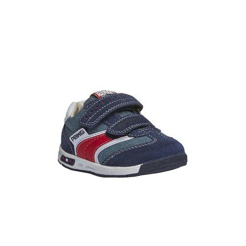 Sneakers in pelle con chiusure a velcro primigi, viola, 113-9136 - 13