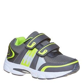 Sneakers da bambino con chiusure a velcro mini-b, grigio, 219-2167 - 13