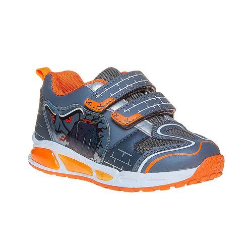 Sneakers da bambino con chiusure a velcro mini-b, grigio, 211-2170 - 13