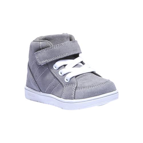 Sneakers da bambino in pelle mini-b, grigio, 213-2134 - 13