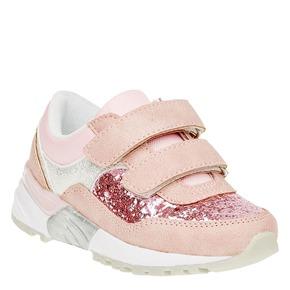 Sneakers da ragazza con glitter mini-b, rosso, 221-5150 - 13
