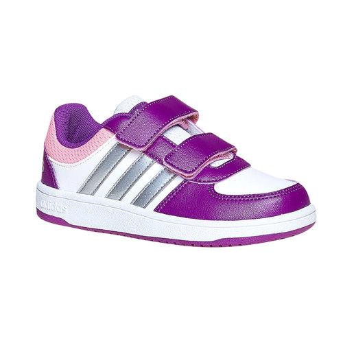 Sneakers da bambina con chiusure a velcro adidas, viola, bianco, 301-1167 - 13