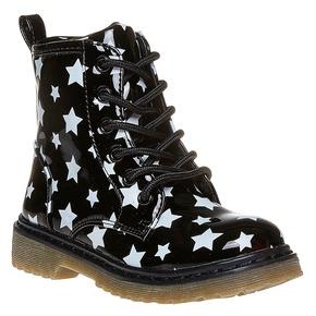 Scarpe da bambina sopra la caviglia con suola appariscente mini-b, nero, 291-6159 - 13
