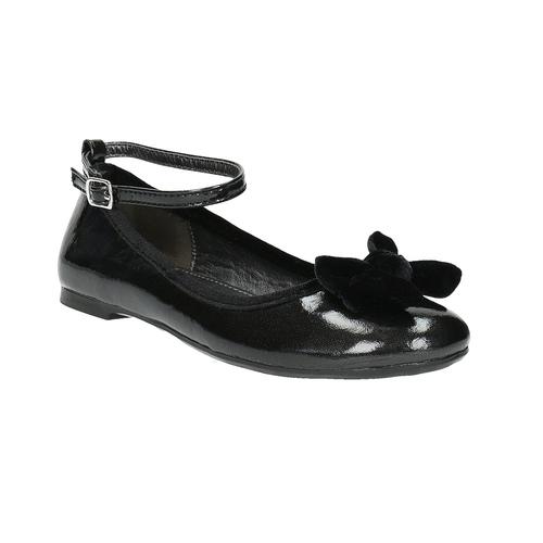 Ballerine da ragazza con fiocco mini-b, nero, 321-6190 - 13