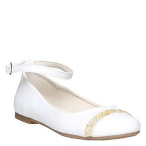 Ballerine da ragazza con strass mini-b, bianco, 321-1181 - 13