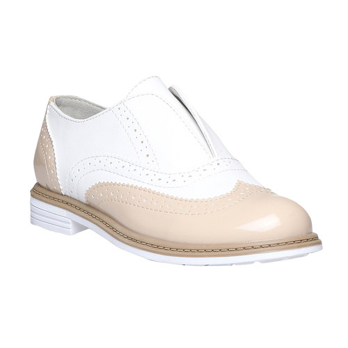 Scarpe basse da bambino in stile Spectator shoes mini-b, rosso, 321-5178 - 13
