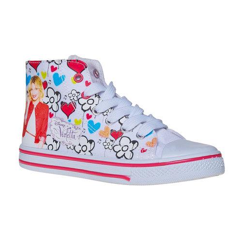 Sneakers da bambina alla caviglia violetta, bianco, 329-1179 - 13