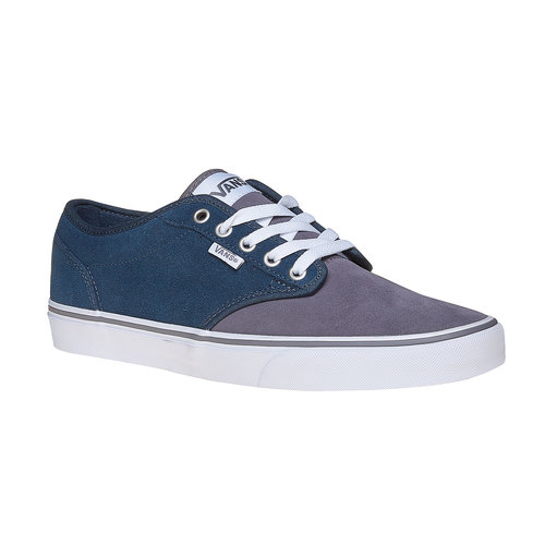 Sneakers da bambino di pelle vans, blu, 403-9234 - 13