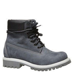 Scarpe di pelle alla caviglia weinbrenner-junior, viola, 396-9182 - 13