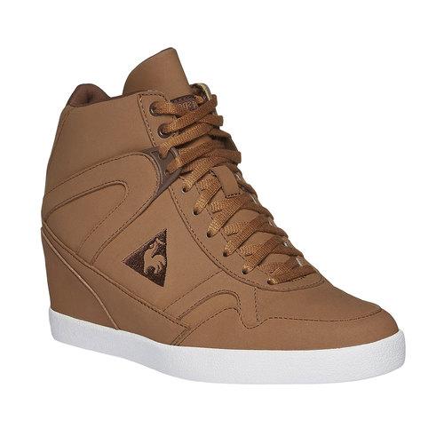 Sneakers alla caviglia con zeppa le-coq-sportif, marrone, 501-4231 - 13