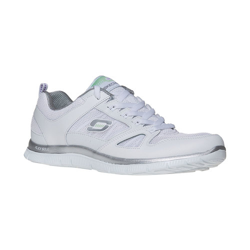 Sneakers sportive da donna skechers, bianco, 509-1556 - 13