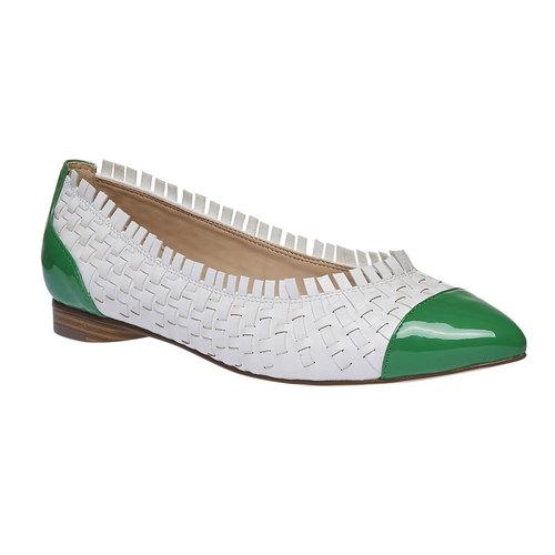 Ballerine a punta bata, verde, 521-7472 - 13