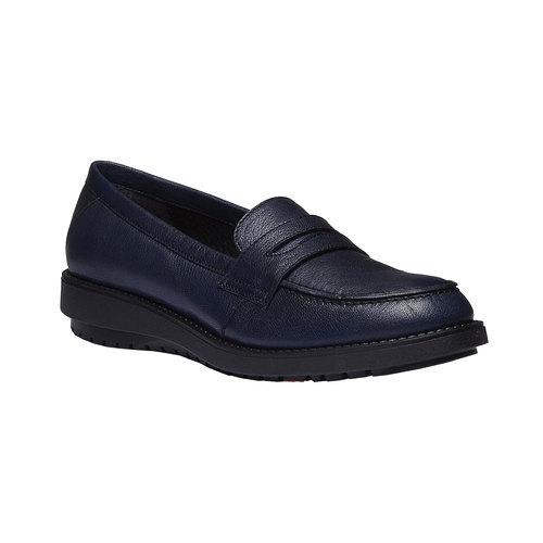 Scarpe di pelle in stile Loafer flexible, viola, 514-9185 - 13