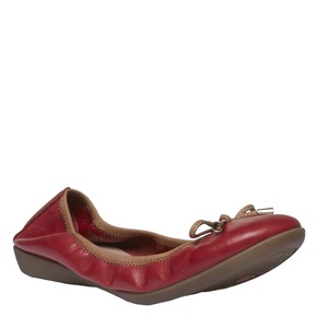 Ballerine rosse di pelle bata, rosso, 524-5485 - 13