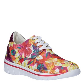 Sneakers da donna con motivo floreale north-star, rosso, 549-5230 - 13