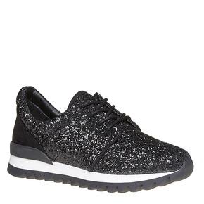 Sneakers nere da donna con glitter north-star, nero, 549-6262 - 13