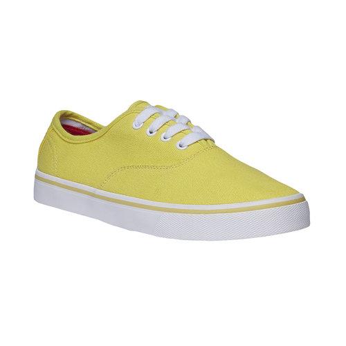 Sneakers di tela con suola bianca north-star, giallo, 549-8221 - 13