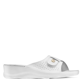 Slip-on da donna in pelle bata-comfit, bianco, 574-1250 - 13