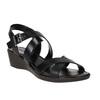 Sandali di pelle con tacco a zeppa sundrops, nero, 564-6400 - 13