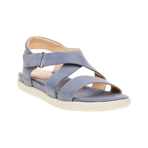 Sandali da donna in pelle bata, blu, 564-9351 - 13