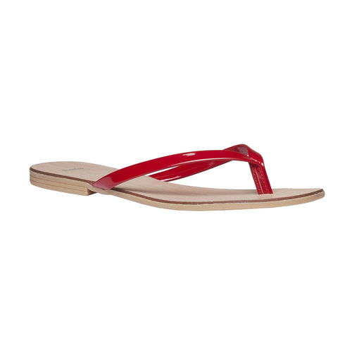 Infradito rosse da donna bata, rosso, 571-5273 - 13