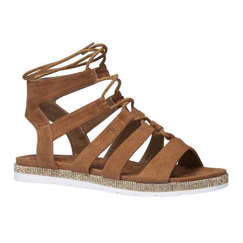 Sandali da donna di tipo gladiatore bata, marrone, 569-3388 - 13