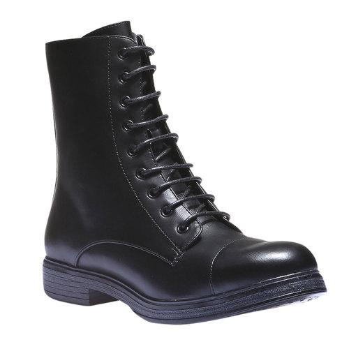 Sneakers alte con lacci bata, nero, 591-6106 - 13