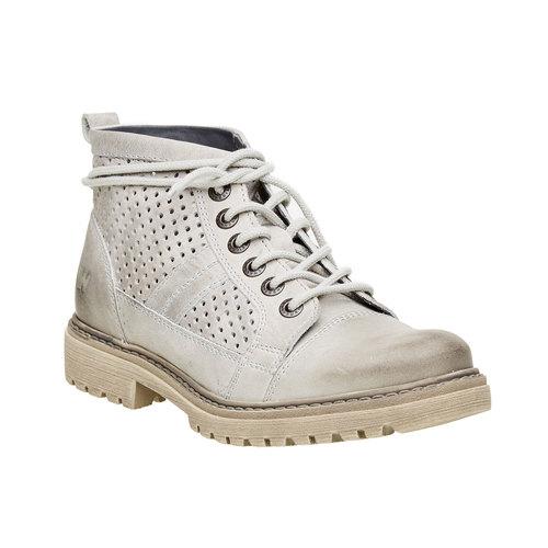 scarponcino di pelle alla caviglia weinbrenner, grigio, 594-2138 - 13