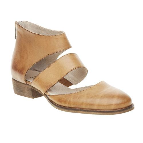 Scarpe di pelle alla caviglia bata, marrone, 594-3259 - 13