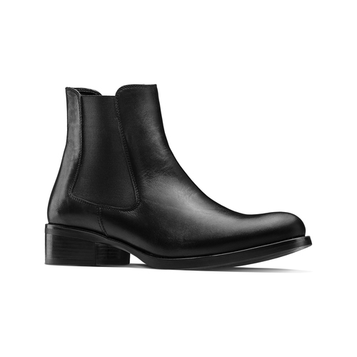 Scarpe di pelle in stile Chelsea bata, nero, 594-6448 - 13