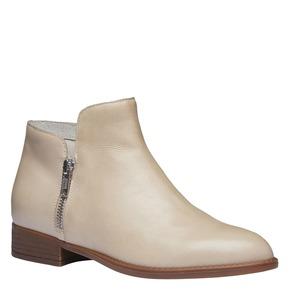 Stivaletti di pelle alla caviglia con cerniere bata, giallo, 594-8670 - 13