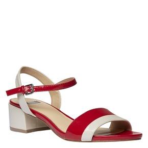 Sandali da donna con tacco basso bata, rosso, 661-5112 - 13