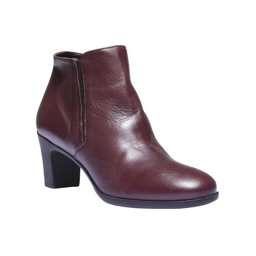Scarpe di pelle alla caviglia flexible, rosso, 694-5173 - 13