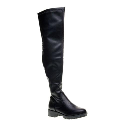 Stivale donna bata, nero, 691-6155 - 13