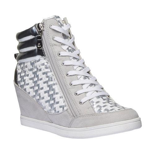 Sneakers alla caviglia con zeppa north-star, bianco, 721-1915 - 13