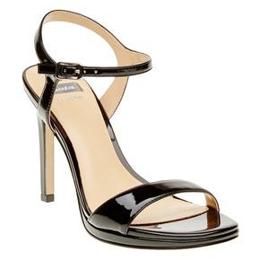 Sandali da donna con cinturino alla caviglia bata, nero, 761-6550 - 13
