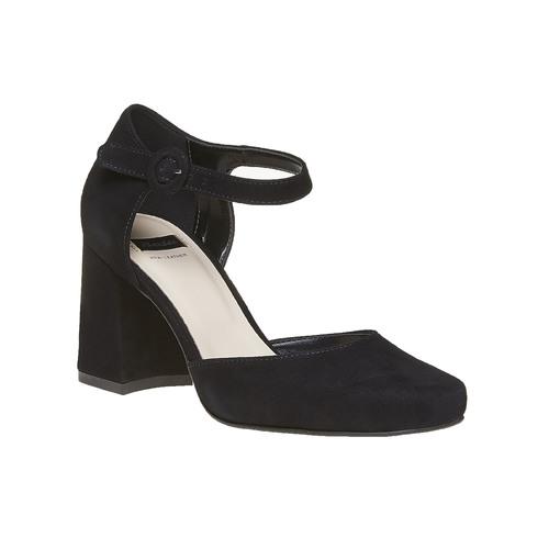 Sandali in pelle con punta chiusa bata, nero, 723-6372 - 13
