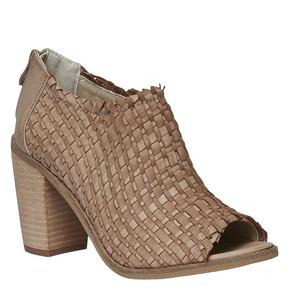 Sandali con punta aperta bata, marrone, 721-3945 - 13
