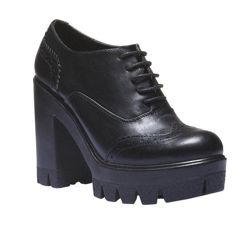 Scarpe basse da donna con suola massiccia bata, nero, 721-6104 - 13