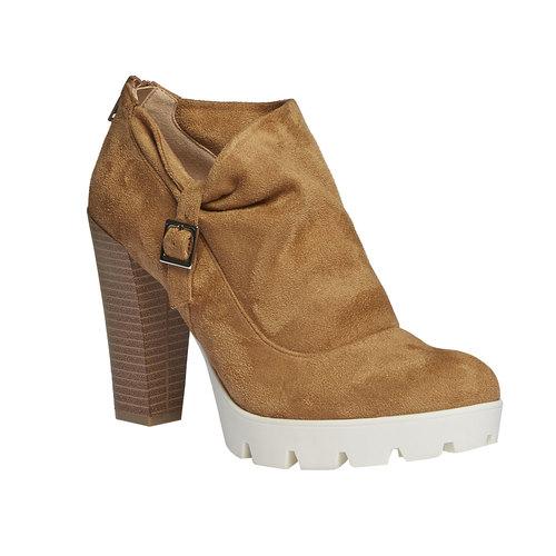 Stivaletti alla caviglia dalla suola appariscente bata, marrone, 799-3630 - 13