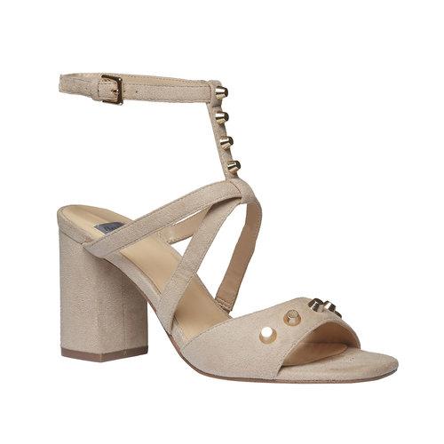 sandalo da donna con tacco bata, beige, 769-8534 - 13
