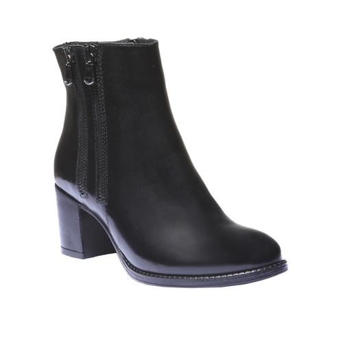 Scarpe di pelle alla caviglia bata, nero, 794-6566 - 13