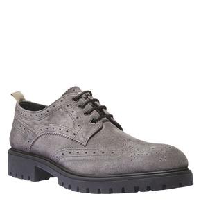 Scarpe basse in pelle con suola massiccia bata, grigio, 823-2288 - 13