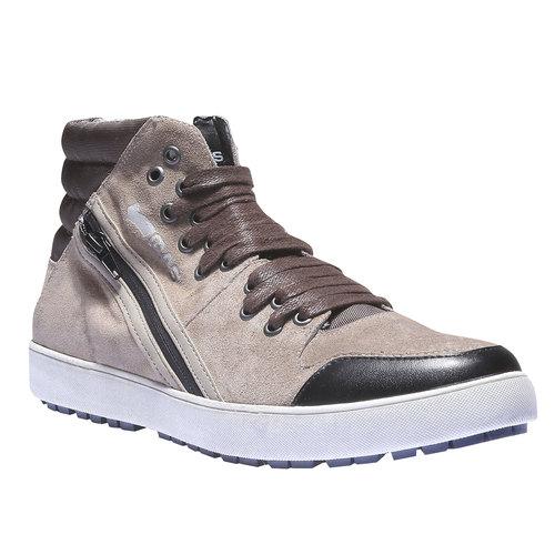 Sneakers in pelle alla caviglia gas, grigio, 843-2508 - 13