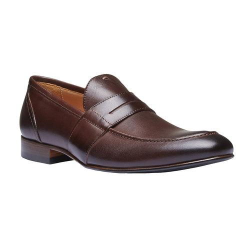 Penny Loafer di pelle shoemaker, marrone, 814-4146 - 13