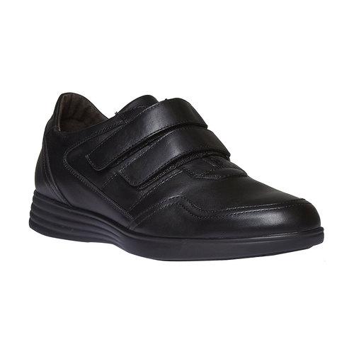 Sneakers in pelle con chiusura a velcro air-system, nero, 814-6134 - 13